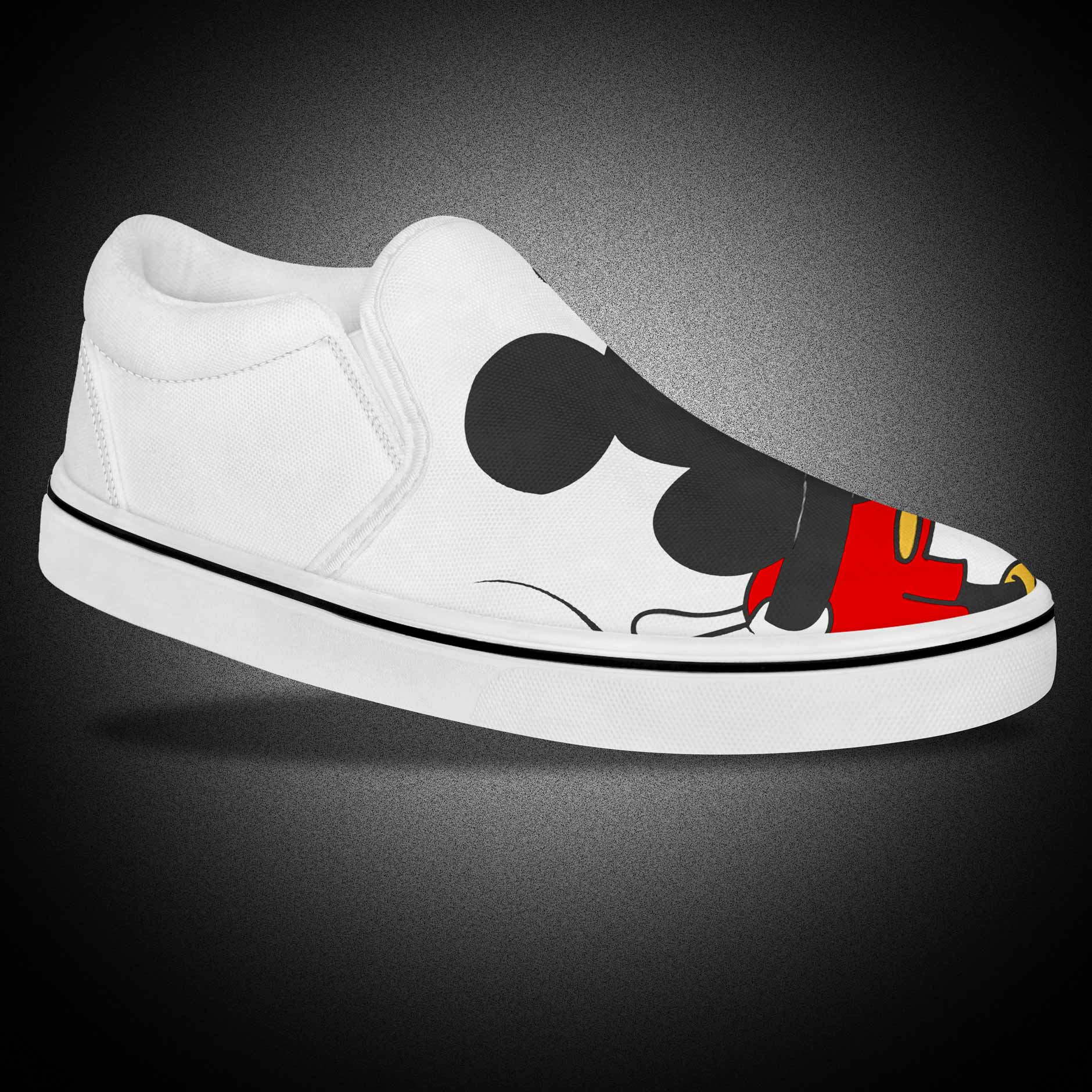Custom Mickey Mouse Cortoon Slip On Canvas Men's Casual Shoes
